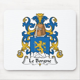 Escudo de Le Borgne Family Tapetes De Raton