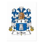 Escudo de Le Bret Family Tarjetas Postales