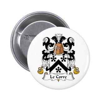 Escudo de Le Corre Family Pins