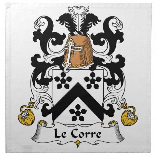 Escudo de Le Corre Family Servilleta De Papel