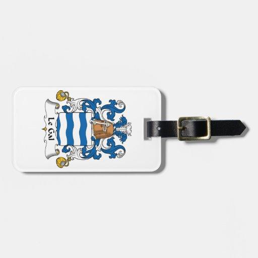 Escudo de Le Gal Family Etiquetas De Maletas