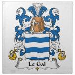 Escudo de Le Gal Family Servilletas De Papel