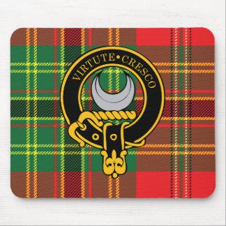 Escudo de Leask y cojín de ratón escoceses del tar