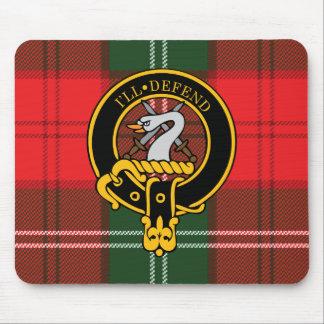 Escudo de Lennox y cojín de ratón escoceses del ta