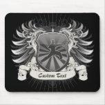 Escudo de los artes marciales tapetes de raton