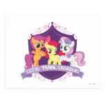 Escudo de los cruzados de la marca de Cutie Tarjeta Postal