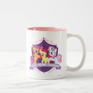 Escudo de los cruzados de la marca de Cutie Tazas De Café