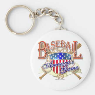 Escudo de los E.E.U.U. del béisbol del vintage Llaveros Personalizados