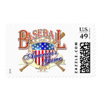 Escudo de los E.E.U.U. del béisbol del vintage Sellos
