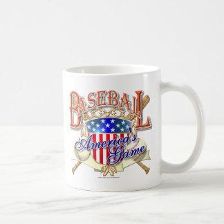 Escudo de los E.E.U.U. del béisbol del vintage Tazas