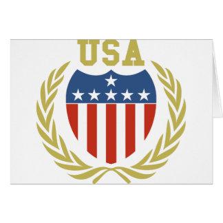 Escudo de los E.E.U.U. Felicitacion