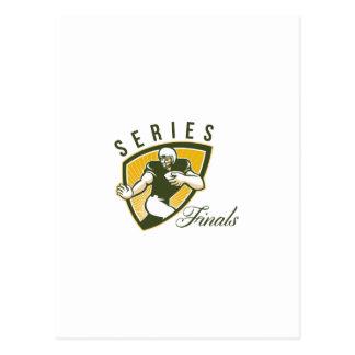 Escudo de los finales de la serie del fútbol postales