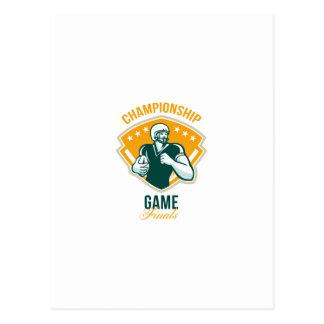 Escudo de los finales del partido del campeonato tarjeta postal