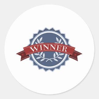 Escudo de los ganadores de la recompensa de la pegatinas redondas