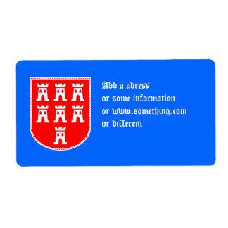 Escudo de los sajones de Transylvanian Etiquetas De Envío
