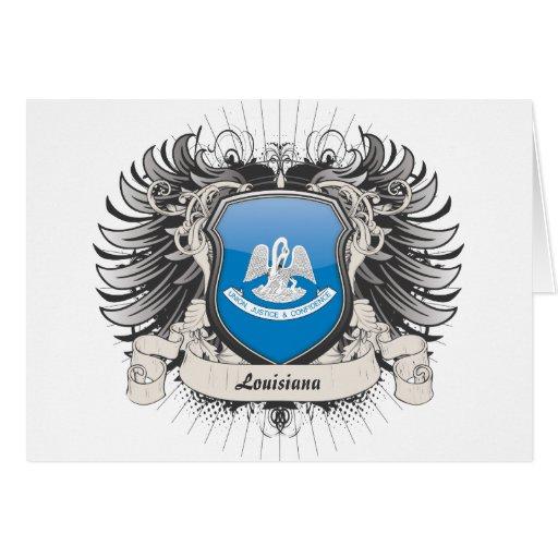 Escudo de Luisiana Tarjeta De Felicitación