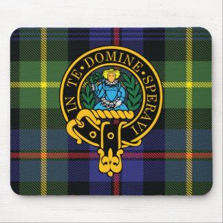 Escudo de Lyon y cojín de ratón escoceses del tart