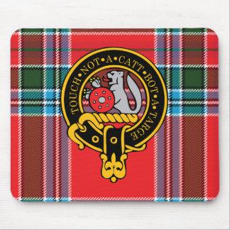 Escudo de Macbain y cojín de ratón escoceses del t