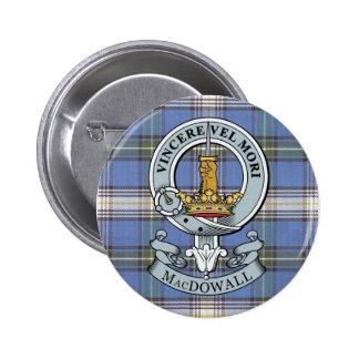 Escudo de MacDowall + Botón del tartán