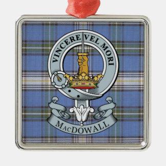 Escudo de MacDowall + Ornamento del premio del Adorno Navideño Cuadrado De Metal