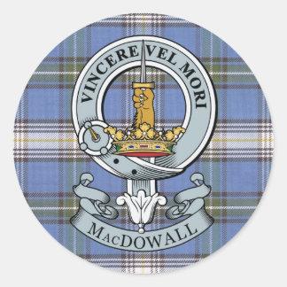 Escudo de MacDowall + Paquete del pegatina del