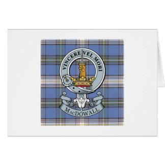 Escudo de MacDowall + Tarjeta de felicitación del