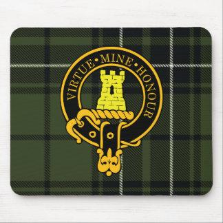 Escudo de Maclean y cojín de ratón escoceses del t