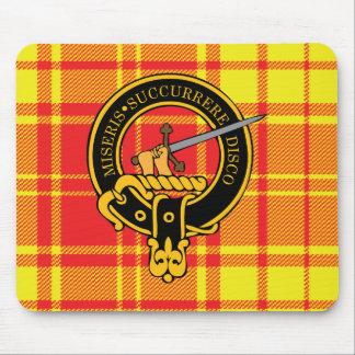Escudo de Macmillan y cojín de ratón escoceses del