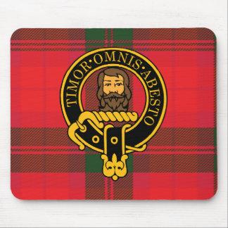 Escudo de Macnab y cojín de ratón escoceses del ta