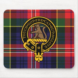 Escudo de Macpherson y cojín de ratón escoceses de Tapetes De Ratones