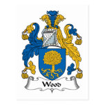 Escudo de madera de la familia postal