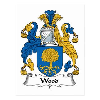Escudo de madera de la familia postales