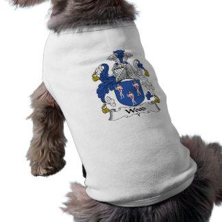 Escudo de madera de la familia playera sin mangas para perro
