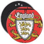 Escudo de madera de los leones de Inglaterra tres Pins