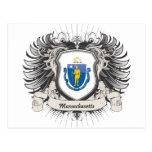 Escudo de Massachusetts Postales