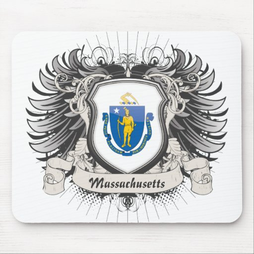 Escudo de Massachusetts Tapete De Ratones