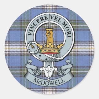 Escudo de McDowell + Paquete del pegatina del