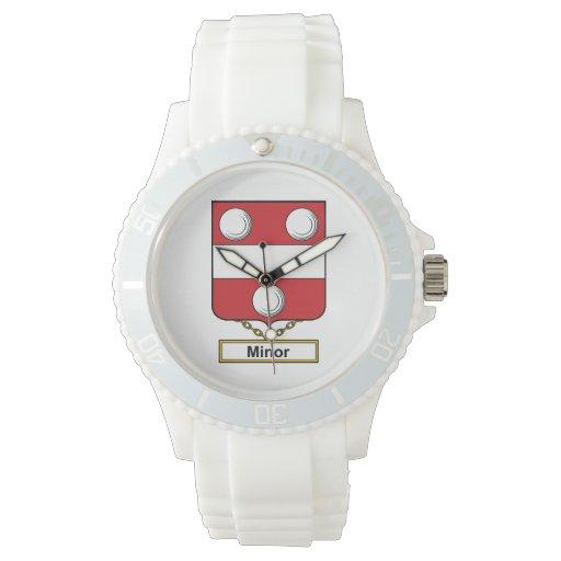 Escudo de menor importancia de la familia relojes de mano