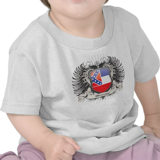 Escudo de Mississippi Camiseta