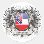 Escudo de Mississippi Pegatina Redonda