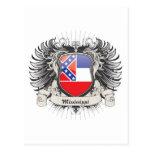Escudo de Mississippi Tarjeta Postal