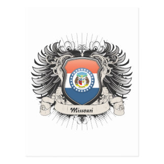 Escudo de Missouri Tarjeta Postal