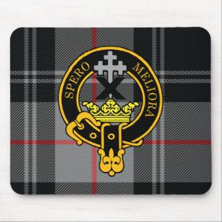Escudo de Moffat y cojín de ratón escoceses del ta