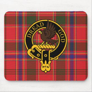 Escudo de Munro y cojín de ratón escoceses del tar