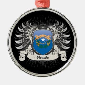 Escudo de Nevada Adorno Navideño Redondo De Metal