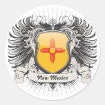 Escudo de New México Pegatinas Redondas