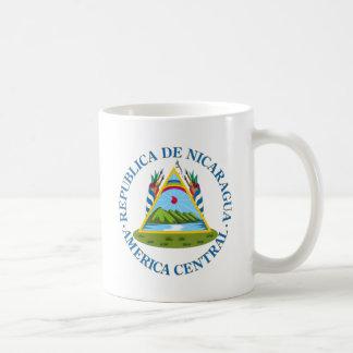 Escudo de Nicaragua Taza Básica Blanca