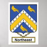 Escudo de nordeste de la familia posters