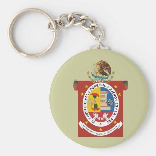 Escudo de Oaxaca, México Llavero Redondo Tipo Pin