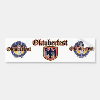 Escudo de Oktoberfest Etiqueta De Parachoque